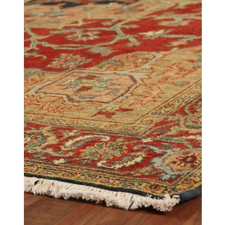 Exquisite Rugs Serapi Red New Zealand Wool Square Rug - 15' x 15'