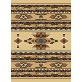 United Weavers Manhattan Phoenix Beige/Brown Polypropylene Berber Area Rug (9'2 x 12'6)