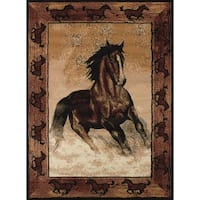 United Weavers Legends Stallion Border Area Rug - 6'6 x 9'10