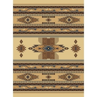 United Weavers Manhattan Phoenix Beige Polypropylene Berber Area Rug (6'6 x 9'10)