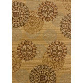 United Weavers Affinity Sundial Golden Polypropylene Area Rug - 12'6 x 15'
