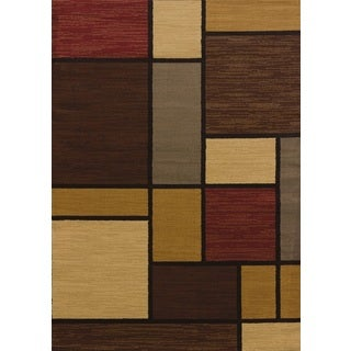 United Weavers Affinity Rhombus Multicolor Polypropylene Area Rug (12'6 x 15')