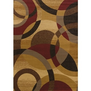 United Weavers Affinity Ricochet Gold Polypropylene Area Rug (12'6 x 15')