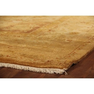 Gold and Grey New Zealand Wool Anatolian Oushak Rug (8' x 8')