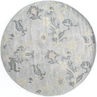 Light Blue Wool and Silk Milano Rug (8')
