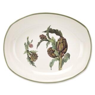 Lorren Home Trends Artichoke Ceramic 17-inch Oval Deep Platter