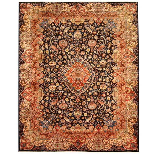 Hand Knotted Persian Wool Area Rug 5 10: Shop Herat Oriental Persian Hand-knotted Tribal Kashmar
