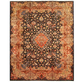 Herat Oriental Persian Hand-knotted Tribal Kashmar Wool Rug (9'10 x 12'5) - 9'10 x 12'5