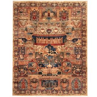 Herat Oriental Persian Hand-knotted Tribal Kashmar Wool Rug (9'10 x 12'8)