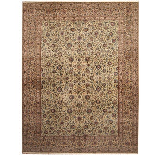 Herat Oriental Persian Hand-knotted Tribal Kashan Wool Rug (10'6 x 14')