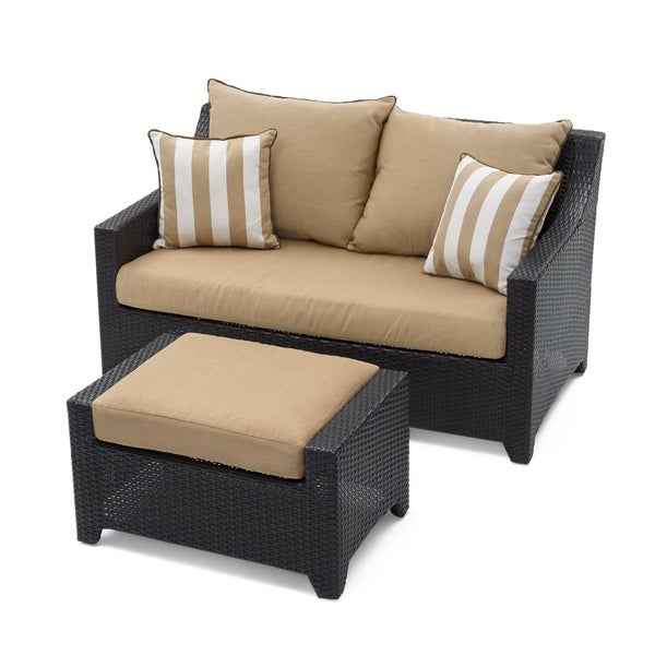 Deco Loveseat and Ottoman in Maxim Beige by RST Brands. Opens flyout.