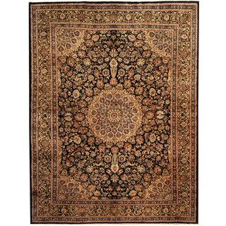 Herat Oriental Persian Hand-knotted Kashmar Wool Rug (9'11 x 13'1)