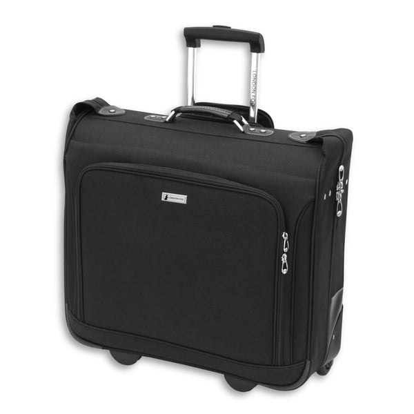 London Fog Buckingham Black Polyester Rolling Garment Bag