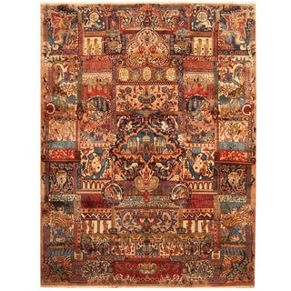 Herat Oriental Persian Hand-knotted Kashmar Wool Rug (9'7 x 12'9)