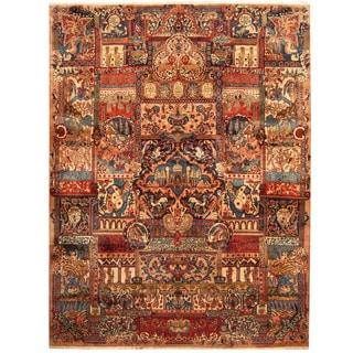 Herat Oriental Persian Hand-knotted Kashmar Wool Rug (9'7 x 12'9)