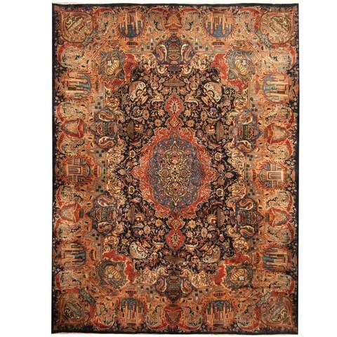 Handmade Herat Oriental Persian Kashmar Wool Rug - 9'10 x 13'2 (Iran)