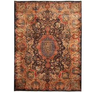 Herat Oriental Persian Hand-knotted Kashmar Wool Rug (9'10 x 13'2) - 9'10 x 13'2