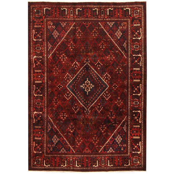 Herat Oriental Persian Hand-knotted Joshegan Wool Rug (7'2 x 10'3) - 7'2 x 10'3