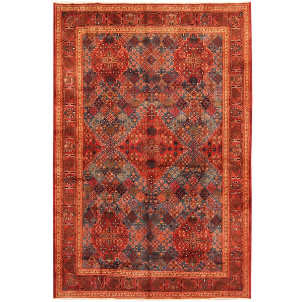 Herat Oriental Persian Hand-knotted Moud Wool Rug - 7'5 x 10'10