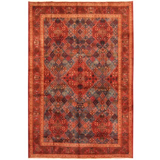 Herat Oriental Persian Hand-knotted Moud Wool Rug (7'5 x 10'10)