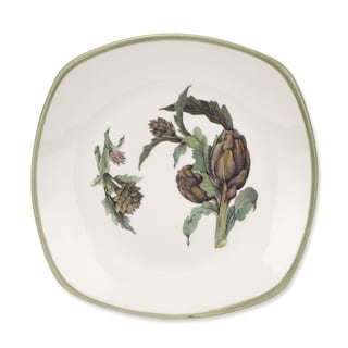 Lorren Home Trend Artichoke Made In Italy Ceramic 8-inch Salad Plates (Set of 4)