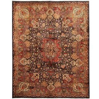 Herat Oriental Persian Hand-knotted Tribal Kashmar Wool Rug (9'8 x 12'2)