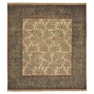 Exquisite Rugs Super Kashan Ivory New Zealand Wool Runner Rug (2'6 x 12' Runner) - 2'6 x 12'