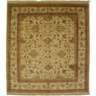 Exquisite Rugs Ziegler Brown / Beige New Zealand Wool Runner Rug (2'6 x 10' Runner) - 2'6 x 10'