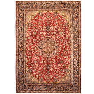 Herat Oriental Persian Hand-knotted Isfahan Wool Rug (10'4 x 14'8)