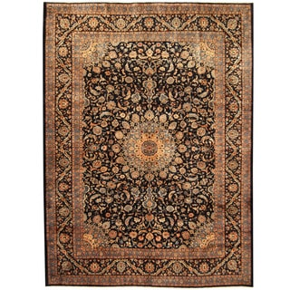 Herat Oriental Persian Hand-knotted Kashmar Wool Rug (10'8 x 13')