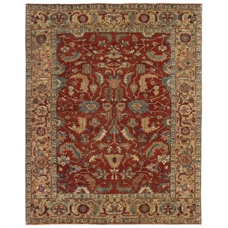 Serapi Red and Gold New Zealand Wool Runner Rug (2'6 x 10')