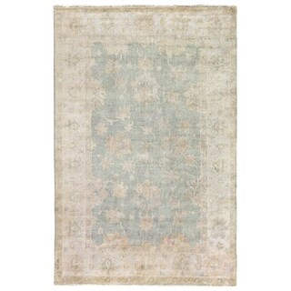 Exquisite Rugs Turkish Oushak Light Blue New Zealand Wool Runner Rug (3' x 11')