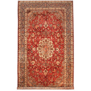 Herat Oriental Persian Hand-knotted Isfahan Wool Rug (10'2 x 17'10)