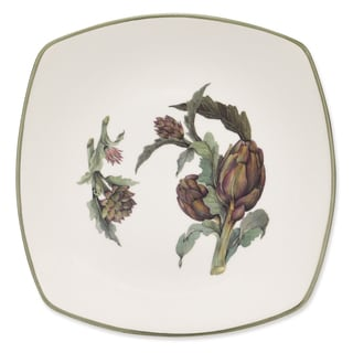 Lorren Home Trend Artichoke Green Ceramic 11-inch Dinner Plate (Pack of 4)