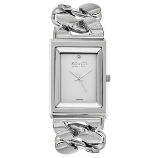 SO&CO New York Women's Quartz Diamond SoHo Watch with Stainless Steel Link Bracelet