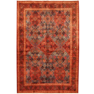 Herat Oriental Persian Hand-knotted Moud Wool Rug (7'6 x 11')