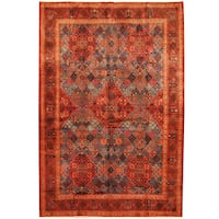 Herat Oriental Persian Hand-knotted Moud Wool Rug (7'6 x 11') - 7'6 x 11'