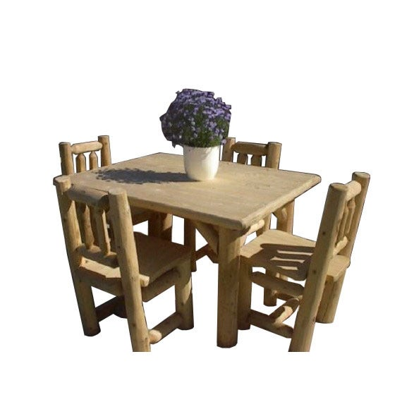 Cedar Round Log Dining Table Real Wood And 50 Similar Items: Shop White Cedar Log Rustic Table And Chair Set