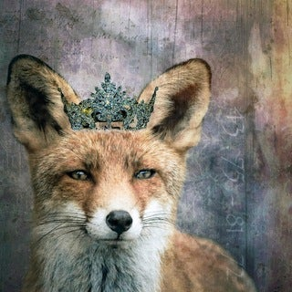 Marmont Hill - 'Queen Fox' by Morgan Jones Painting Print on Wrapped Canvas