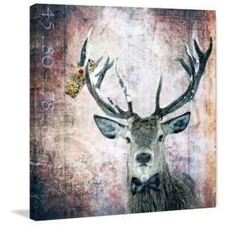 Marmont Hill - 'Buck Prince' by Morgan Jones Painting Print on Wrapped Canvas