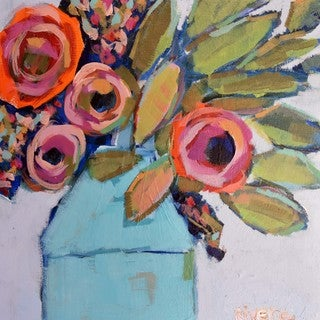 Marmont Hill - 'Wild Bouquet' by Michelle Rivera Painting Print on Wrapped Canvas