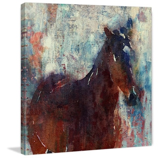 Marmont Hill - 'Wild Brown Horse' by Irena Orlov Painting Print on Wrapped Canvas