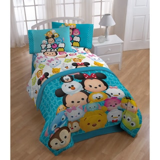 Disney Tsum Tsum Mash Up Teal 6-piece Bed in a Bag with Sheet Set