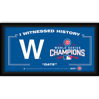 "Chicago Cubs ""The W"" 2016 World Series Champions Framed 10x20 I Witnessed"