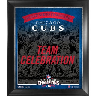 Chicago Cubs 2016 World Series Champions 16x20 Team Composition Graphic Framed Collage