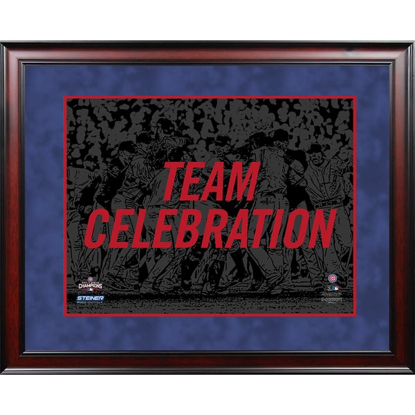 Chicago Cubs 2016  World Series Champions Celebration Framed 16x20 Collage