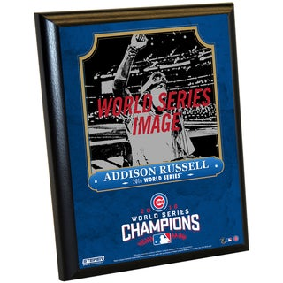 Chicago Cubs 2016 World Series Champions Addison Russell 8x10 Plaque