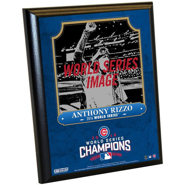 Chicago Cubs 2016 World Series Champions Anthony Rizzo 8x10 Plaque