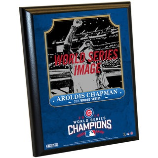 Chicago Cubs 2016 World Series Champions Aroldis Chapman 8x10 Plaque