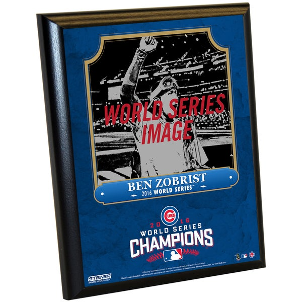 Chicago Cubs 2016 World Series Champions Ben Zobrist 8x10 Plaque